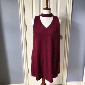 Wishlist Maroon Suede Cutout Dress